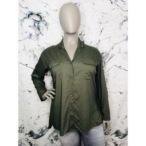 Ava & Viv Button Down Shirt Women Plus Size 2X